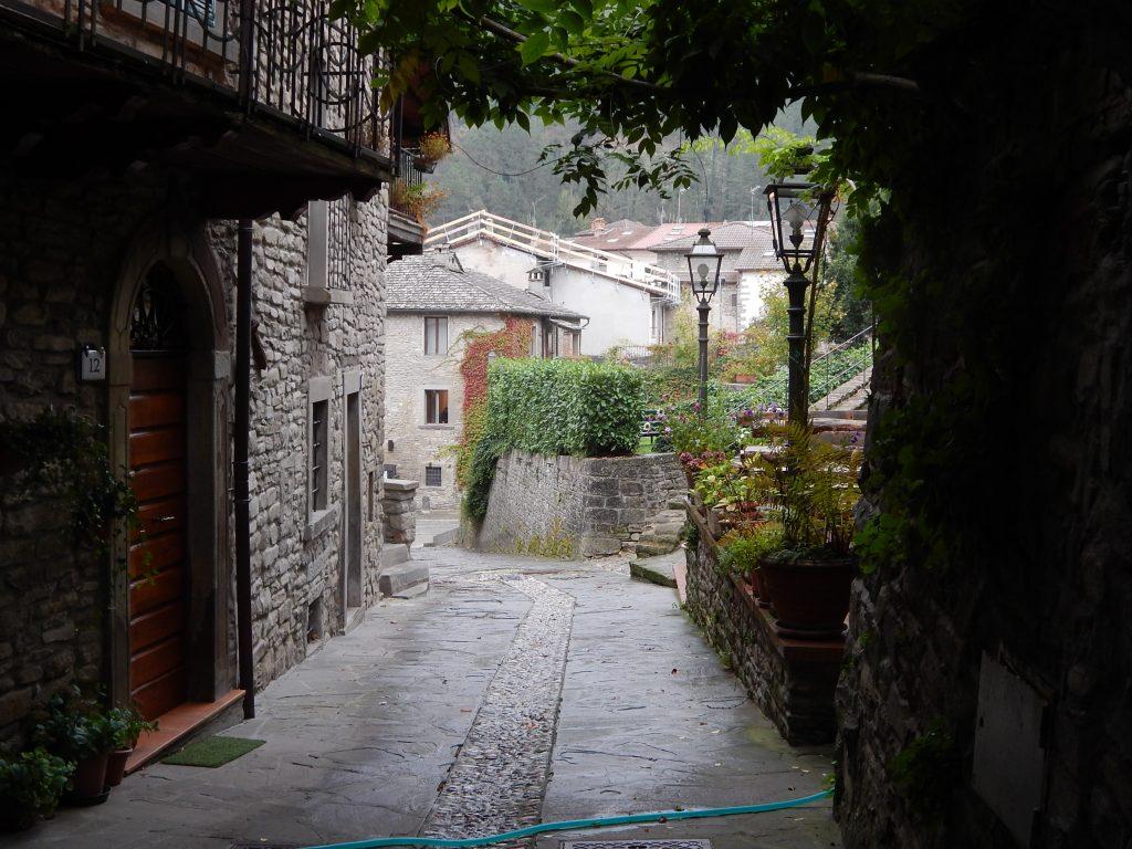 Le vie del borgo di Palazzuolo sul Senio