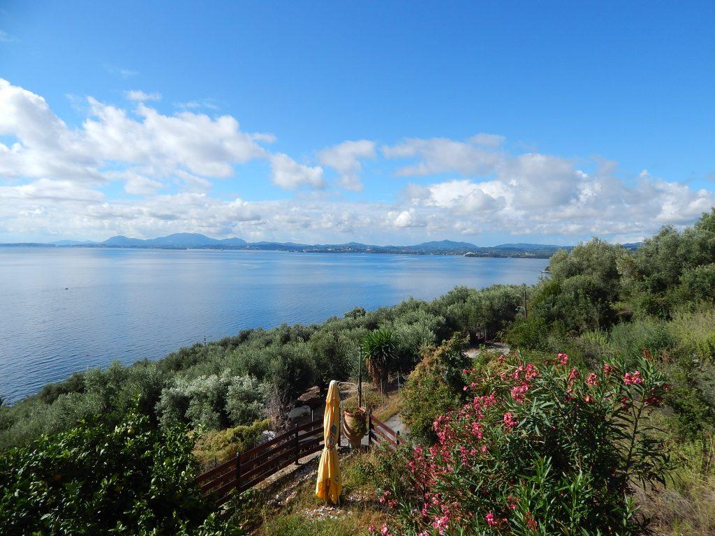 Isola di Corfù - la vista dal nostro appartamento