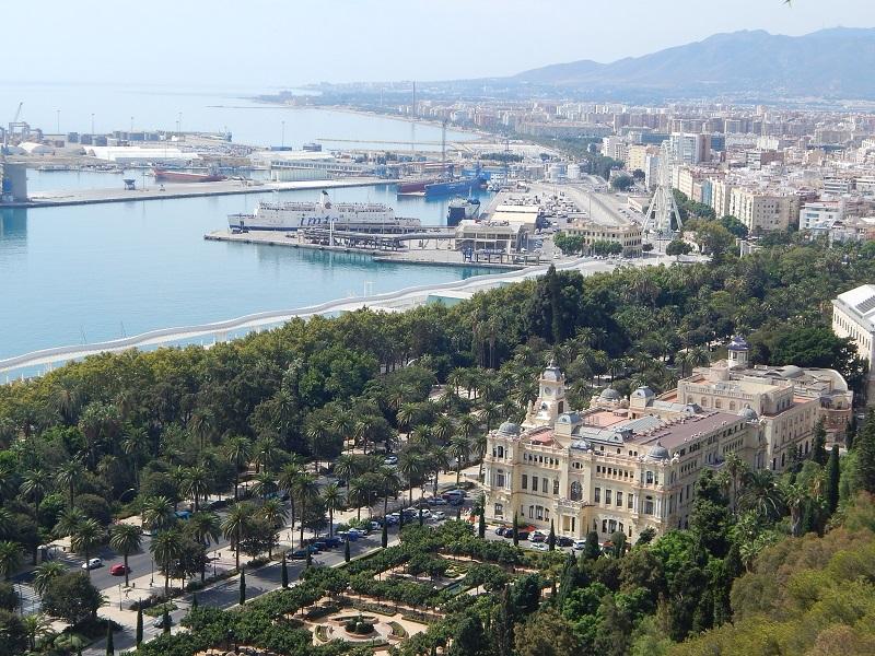 Vista di Malaga dal Castillo de Gibralfaro