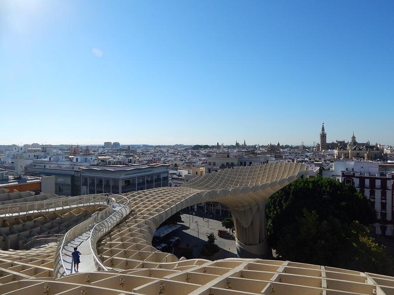 Andalusia - Vista di Siviglia dal Metropol Parasol