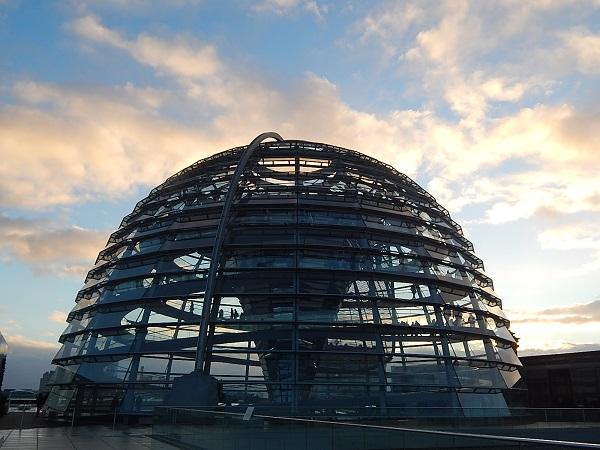 La cupola di vetro del Reichstag