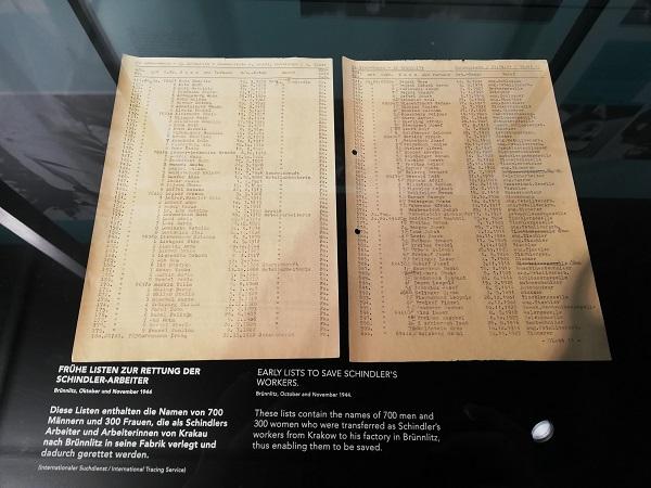La famosa Schindler's list