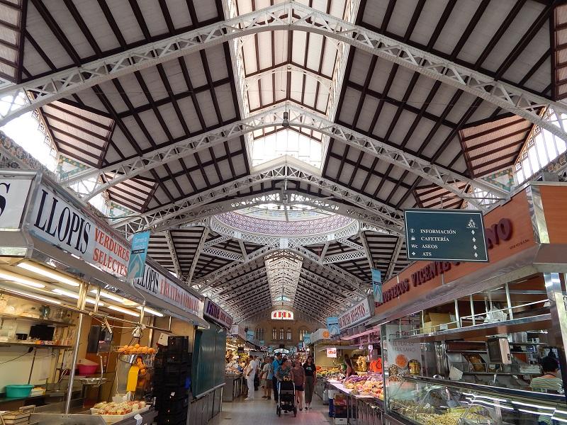 Mercato coperto in Spagna - Il mercato centrale di Valencia