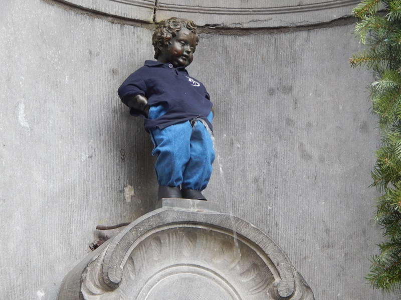 Il Manneken Pis, simbolo di Bruxelles