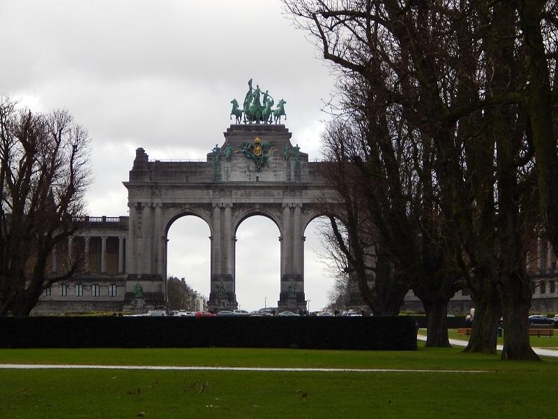 L'arco di trionfo del Parc du Cinquantenaire a Bruxelles