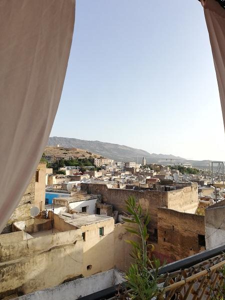 La vista sulla Medina dalla terrazza del nostro Riad a Fez
