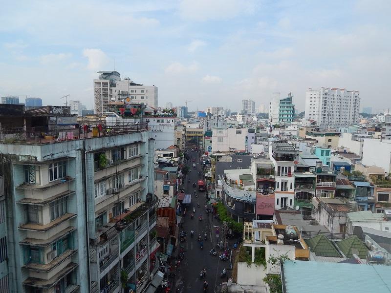 Vietnam - Lo skyline di Ho Chi Minh dalla terrazza del nostro hotel