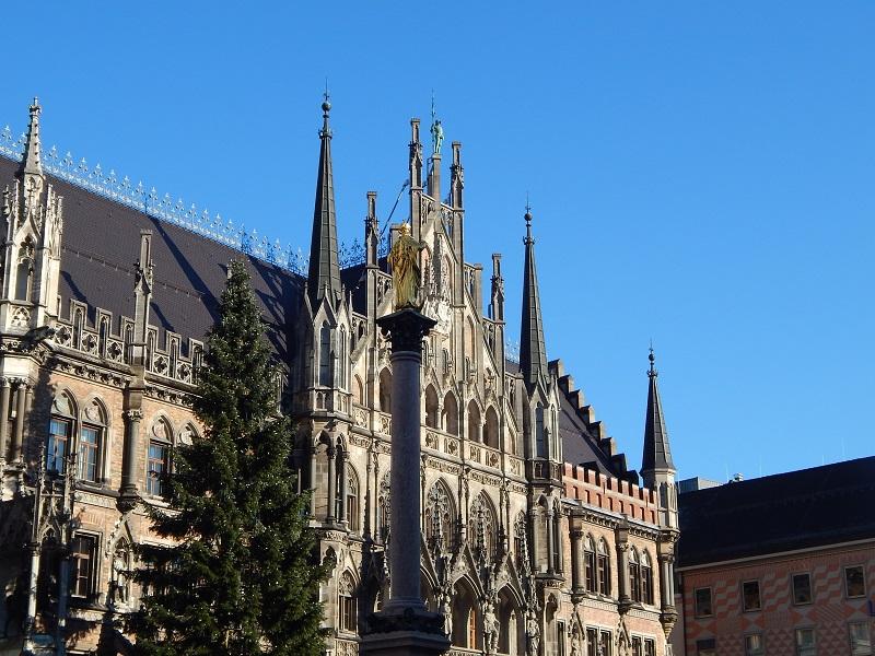 La famosa Marienplatz