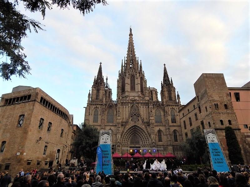 Festa di sant'Eulalia a Barcellona - cattedrale di sant'eulalia