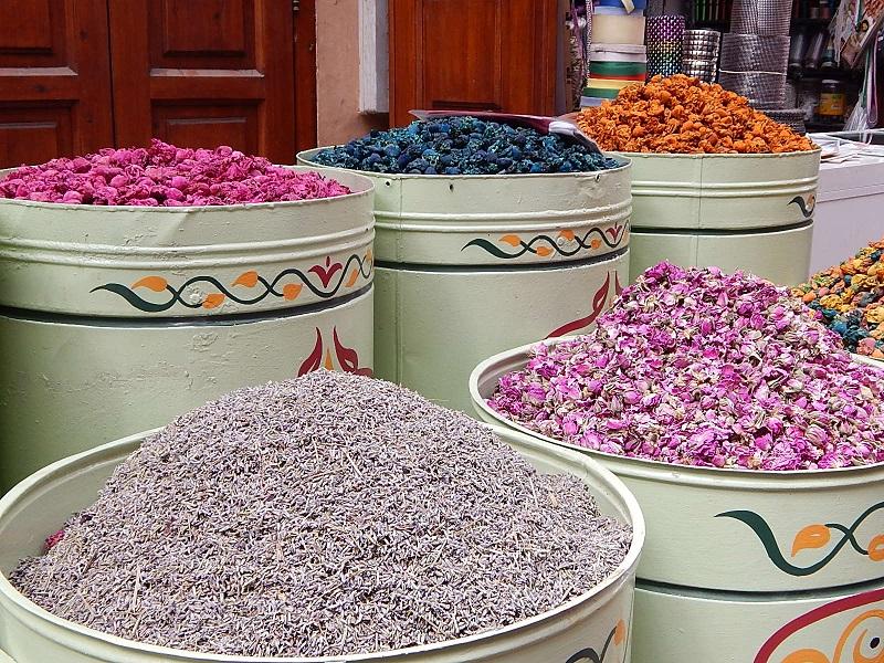 souq delle spezie a Marrakech