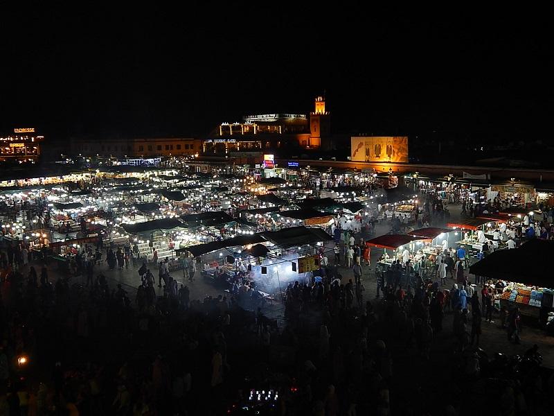 piazza Jemaa el-Fna a Marrakech