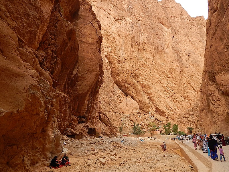 il canyon tra le gole del todra