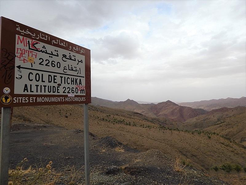 il passo Tizi n'Tichka tra le montagne dell'Atlas