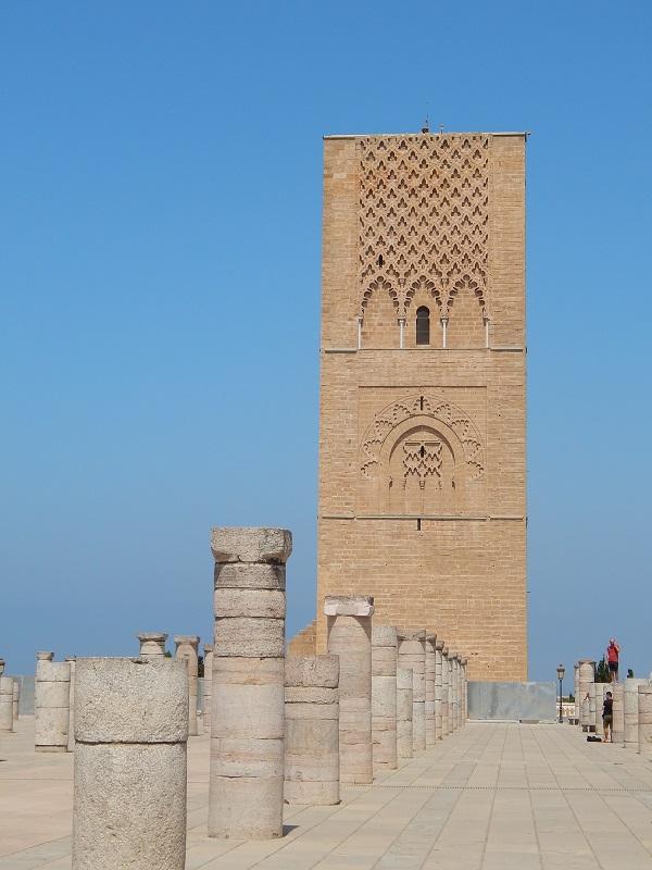la torre di Hassan a Rabat